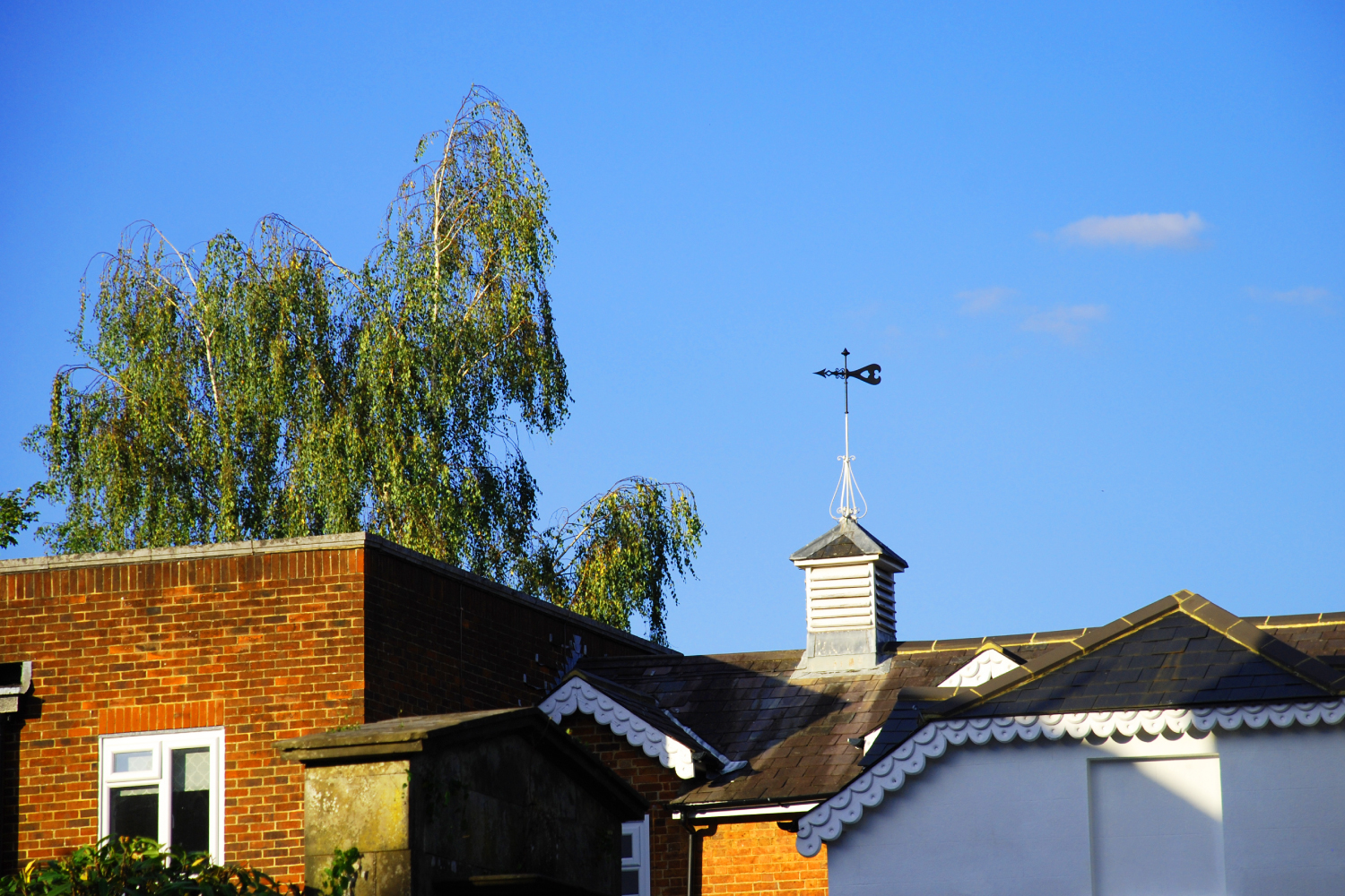 Worth Corner Business Centre - Weather Vane at Sunset